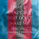 I May Be Crazy, But That Don't Make Me Wrong by Castiel Gutierrez