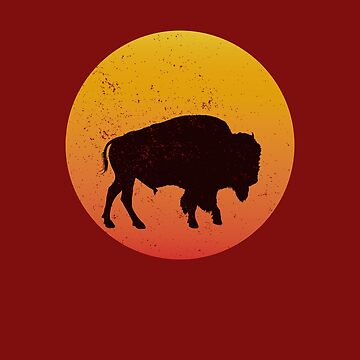 Sunset On American Buffalo by AhuvaR