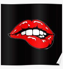 Beißende Lippen Poster