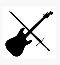 Guitar & Sword Photographic Print