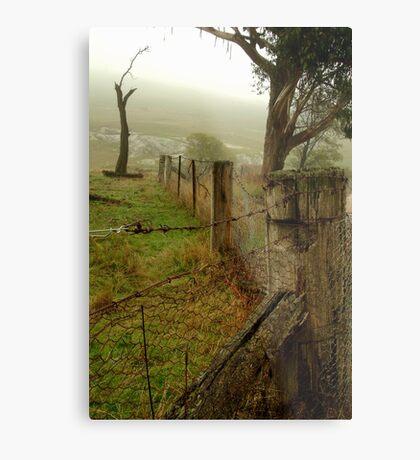 Wet Damp Cowbaw Morning, Macendon Ranges Metal Print