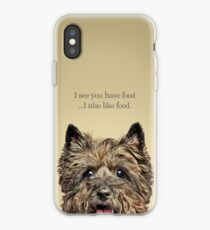 Funny and Hungry Cairn Terrier iPhone Case