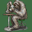 «Steve el perezoso tomando un descanso para tomar café - dotsofpaint» de dotsofpaint