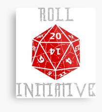 Roll Initiative Dungeons & Dragons gift idea Metal Print