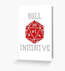 Roll Initiative Dungeons & Dragons gift idea Greeting Card
