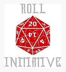 Roll Initiative Dungeons & Dragons gift idea Photographic Print