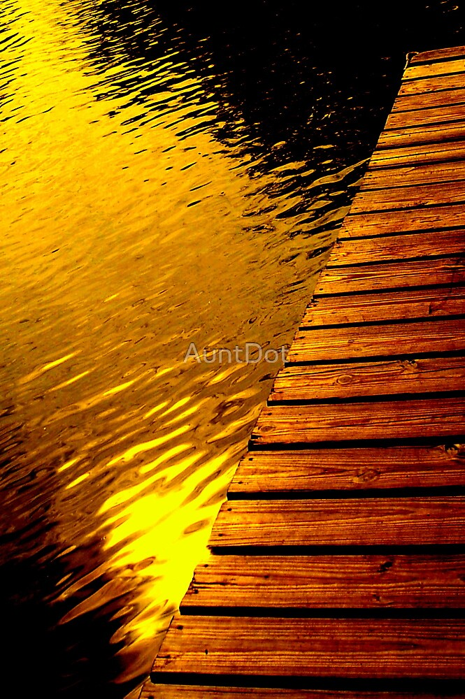 Sun on the Water By the Dock by AuntDot