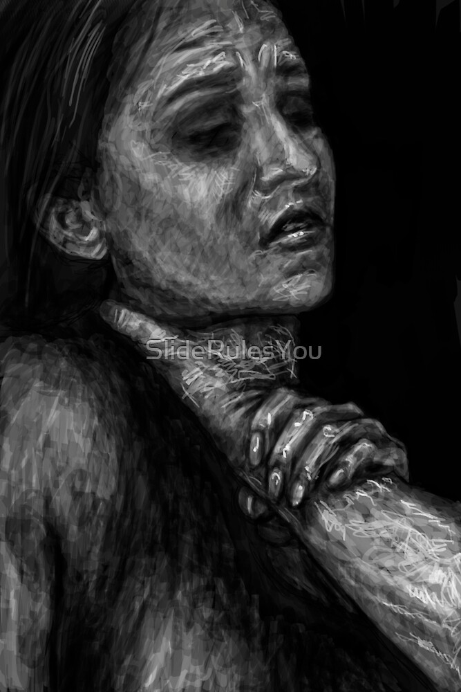 Choke me, she said by SlideRulesYou
