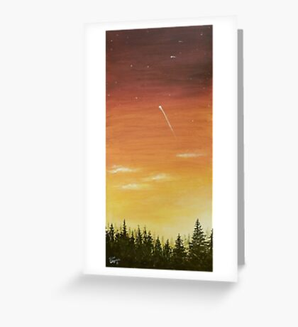 shooting star and the sunset 2 Greeting Card