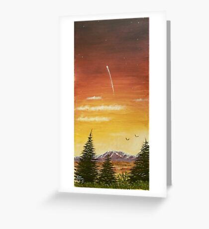 sunset and the shooting star  I Greeting Card