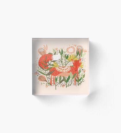 Happy Fox Tale Acrylic Block