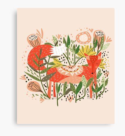 Happy Fox Tale Canvas Print
