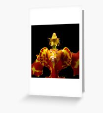 The Warrior II - A New Perspective on Orchid Life Greeting Card