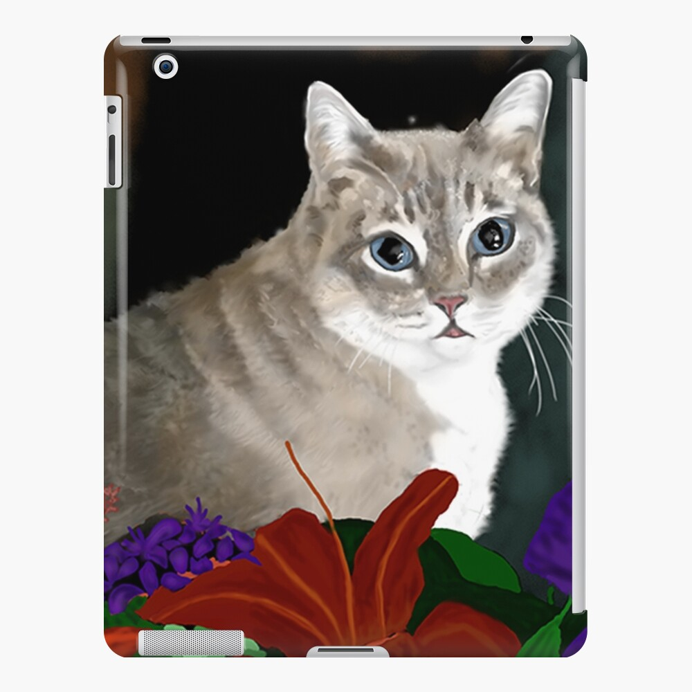 Tinkerbell Kitty and Flowers iPad Case & Skin