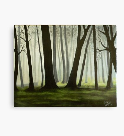 Misty forrest Canvas Print