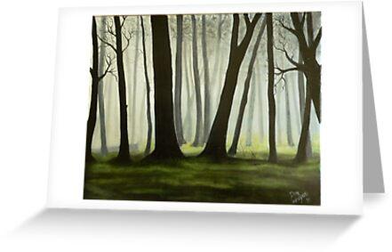 Misty forrest by Dan Wagner