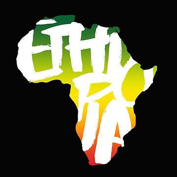 Ethiopia in Africa - White by dj2tonejones