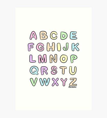 Pastel Alphabet Art Print