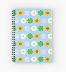 Kawaii Spring Flowers (Blue) Spiral Notebook