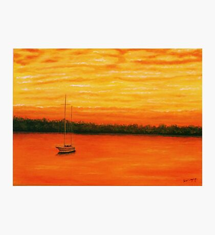 Sunset on the lake. Photographic Print