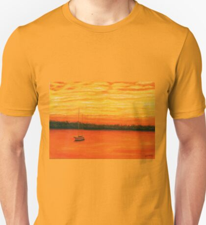 Sunset on the lake. T-Shirt