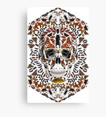 INSECTS SKULL Canvas Print