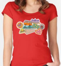 Asheville Sticker Collection Women's Fitted Scoop T-Shirt