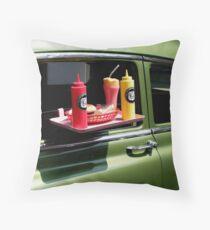 Sun tanned 1950s milkshake Throw Pillow