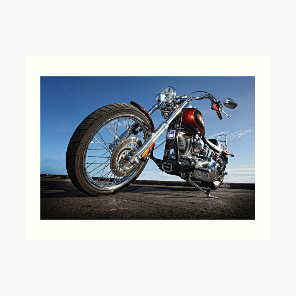 Low Rider Harley. Art Print