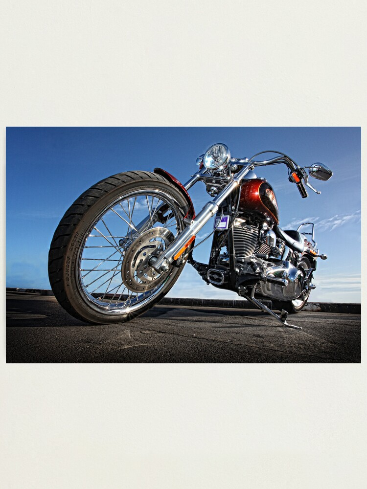 Alternate view of Low Rider Harley. Photographic Print