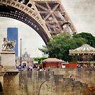 Eiffel Tower Paris France by Jonicool