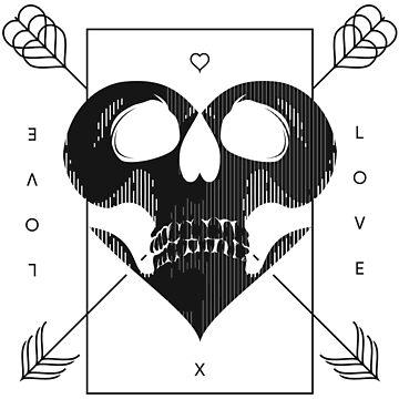 Skull Valentine (Versión Negra) de samuelzadames