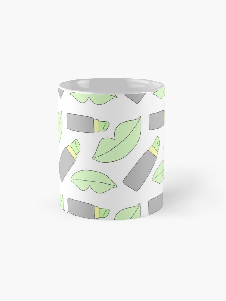 Alternate view of Fashionable Green Lips Mug