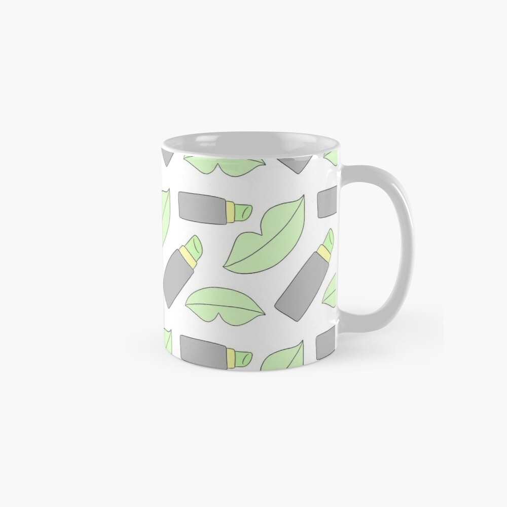 Fashionable Green Lips Mug