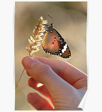 Nature in her hand..... Poster