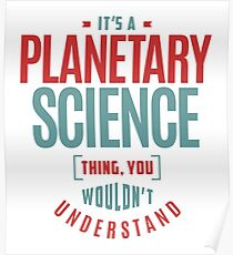 Planetarische Wissenschaft Poster