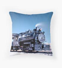 Flagg Coal Steam Engine HDR/IR Throw Pillow