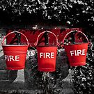Fire buckets by Brett Trafford