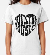 I Love Country Music Lovers T Shirt And Accessories, Country Music Lover Shirt, Sticker, Mugs, Bags Classic T-Shirt