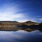 The Roaches reflected in Tittesworth by Brett Trafford