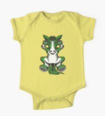 Horse Chilling Green and White  Kids Clothes