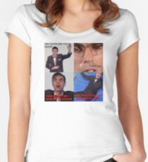 David Byrne Talking Women's Fitted Scoop T-Shirt