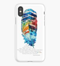 Colorful Feather Art - Cherokee Blessing - By Sharon Cummings iPhone Case/Skin