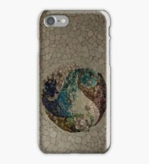 Look Closer - Gaudi's Fascinating Ceiling Mosaics at Park Guell iPhone Case/Skin