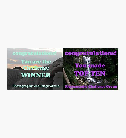 Winner and Top Ten. Will be split if I win! Photographic Print