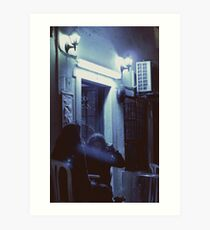midnight talks Art Print