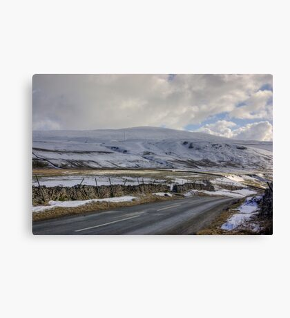 Snow Road in the Dales Canvas Print