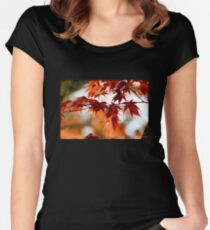 Spring Maple Orange Women's Fitted Scoop T-Shirt