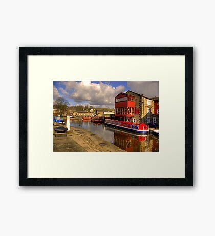Canal Side - Skipton. Framed Print