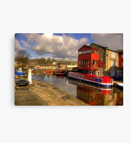 Canal Side - Skipton. Canvas Print